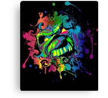 VIBRANT ABSTRACT ZOMBIE - small design Canvas Print