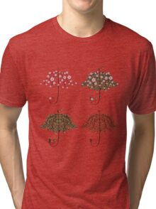Umbrella Shape Tree 2 Tri-blend T-Shirt