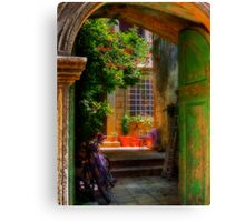 A Glimpse Canvas Print