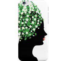 White blossom head iPhone Case/Skin