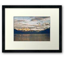 Yet another Lake Geneva and alps landscape. Framed Print
