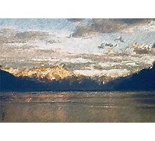 Yet another Lake Geneva and alps landscape. Photographic Print