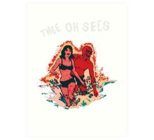 Thee oh Sees  Art Print