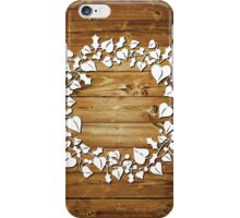 Holly and Ivy  - natural iPhone Case/Skin