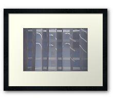 Curtain call... Framed Print