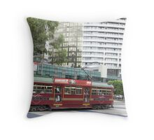 The W-Class Melbourne Tram, with New Zealand Connections Throw Pillow