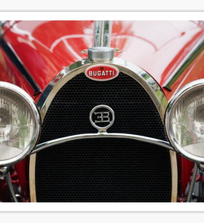 Red Bugatti Grille Sticker