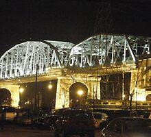 Nashville Bridge at Night by Debbi Tannock