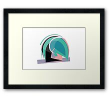 Abstract '80s Framed Print