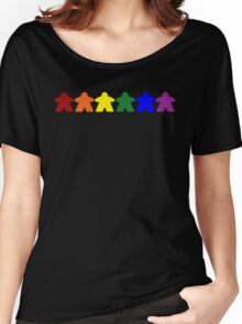 Gay Pride (Minimal Meeple Edition) Women's Relaxed Fit T-Shirt