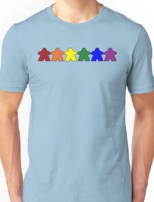 Gay Pride (Minimal Meeple Edition) Unisex T-Shirt
