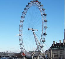 London Eye And River Thames by rumisw