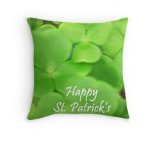 Happy St Patricks Day Throw Pillow