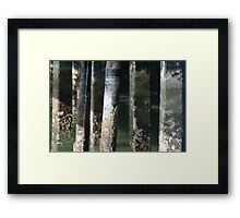 Cement Patina Framed Print