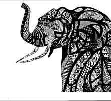 African Elephant in African Patterns by dani-lafez
