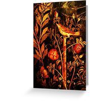 POMPEII COLLECTION NIGHTINGALE WITH RED ROSES Greeting Card