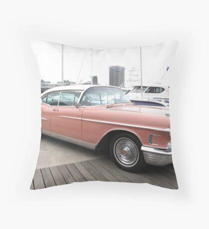 A Pink Cadillac Throw Pillow