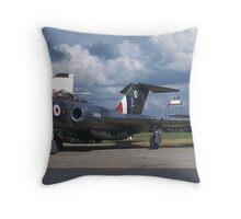 Gloster Javlin, Biggin Hill, Kent. Throw Pillow