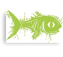 fish scratchy Canvas Print