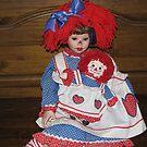 Raggeddy Ann And Doll by Linda Miller Gesualdo