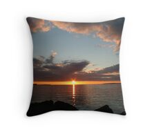 Reykjavik Sunset Throw Pillow