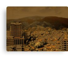 Troubled City Canvas Print