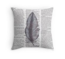 Brown Feather Throw Pillow
