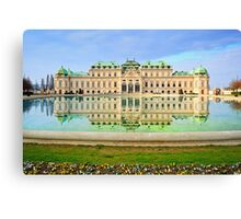 Imperial Austria- Belvedere in Spring  Canvas Print