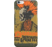 Punk skull iPhone Case/Skin