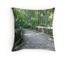 Florida Footpath Throw Pillow