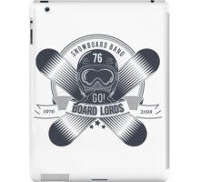 Snowboard logo for t-shirt iPad Case/Skin