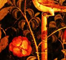 POMPEII COLLECTION NIGHTINGALE WITH RED ROSES Sticker