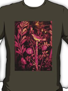 POMPEII COLLECTION NIGHTINGALE WITH PINK ROSES T-Shirt