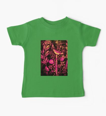 POMPEII COLLECTION NIGHTINGALE WITH PINK ROSES Baby Tee