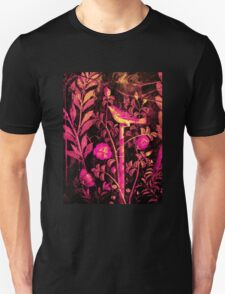 POMPEII COLLECTION NIGHTINGALE WITH PINK ROSES Unisex T-Shirt