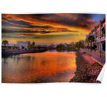 Cornmeal Creek at Sunset-2259-61 Poster