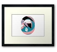 Rounded vector abstract drawing Framed Print