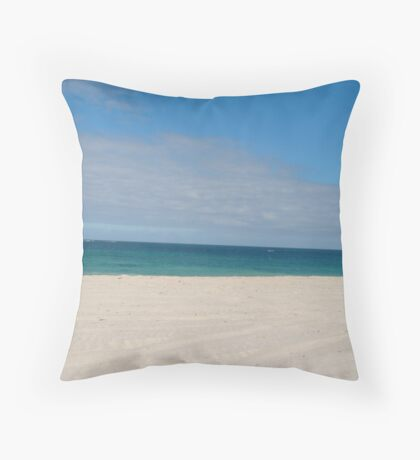 Lancelin Beach Throw Pillow