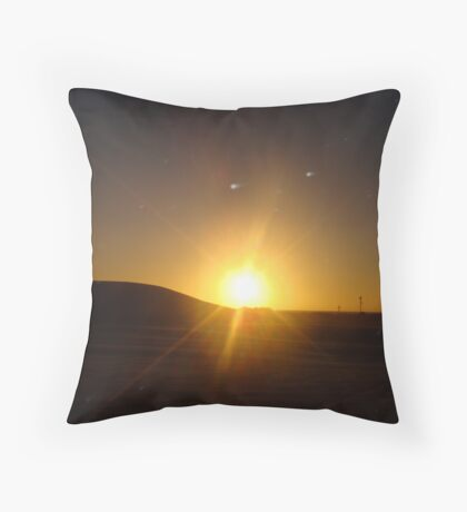 Day 2 Lancelin Sunset Throw Pillow