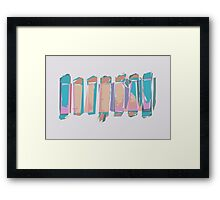 Pastel abstract feestyle vector pattern Framed Print