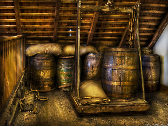 Wine Barrels by Mike  Savad