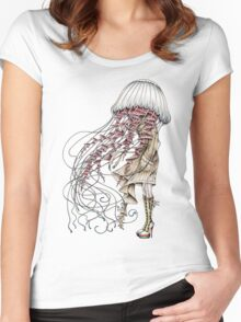 Shroom me up, Jelly Women's Fitted Scoop T-Shirt