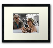 The Bathtub Interview Framed Print