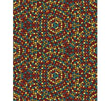 mosaic of colored patches Photographic Print