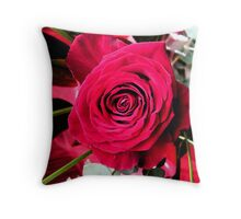 Red Rose Number One Throw Pillow