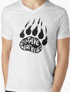 Save The Polar Bears Mens V-Neck T-Shirt
