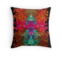 The Purfled Acid Pole Throw Pillow