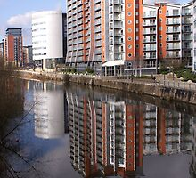 Reflecting On The River Aire by Jazzdenski