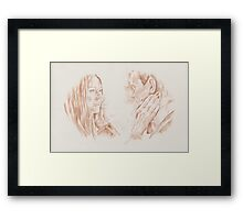 The First Face - Eleven and Amy Framed Print