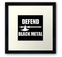 Defend Black Metal Framed Print